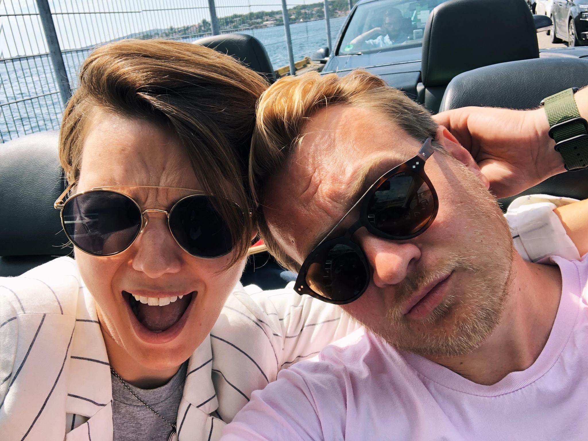 Bilde av markus og elisabeth på roadtrip i 2018