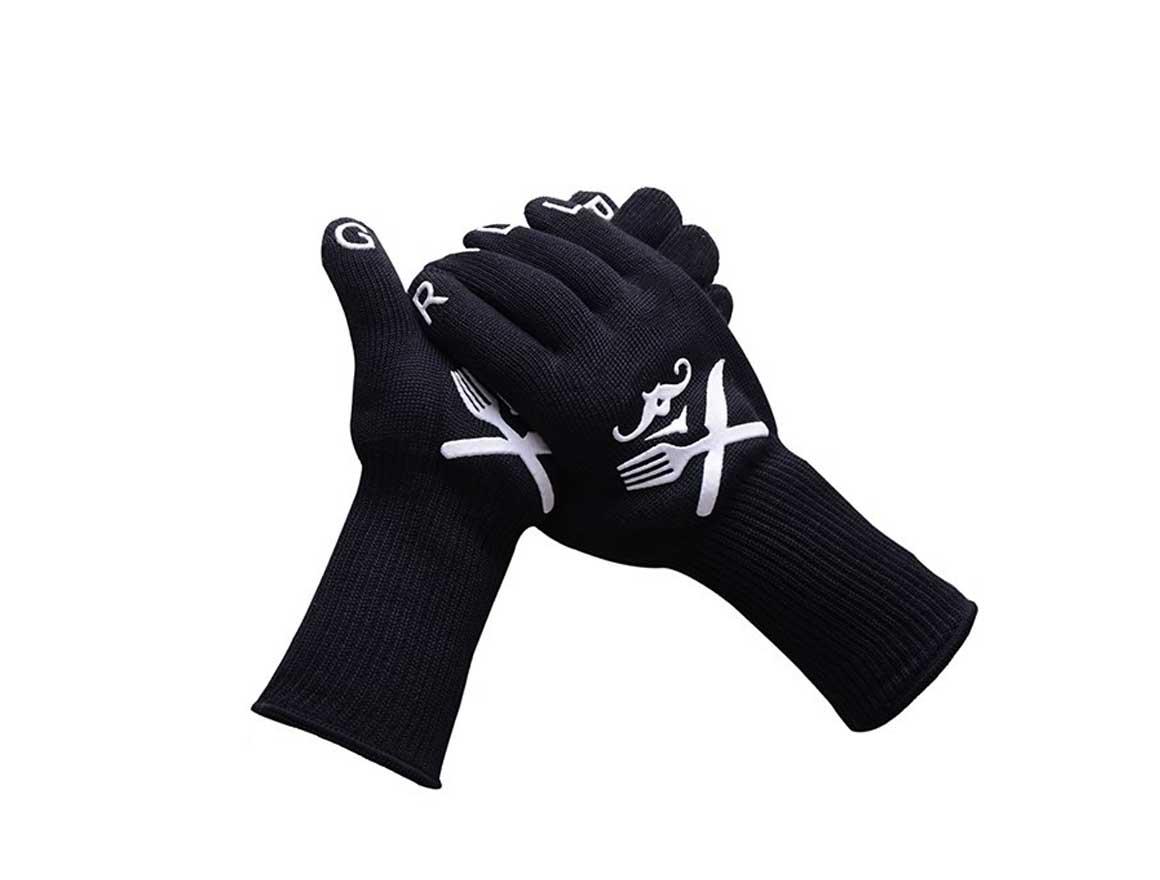 Varmeisolerende hansker for pizzaovn og griller fra Gruiue