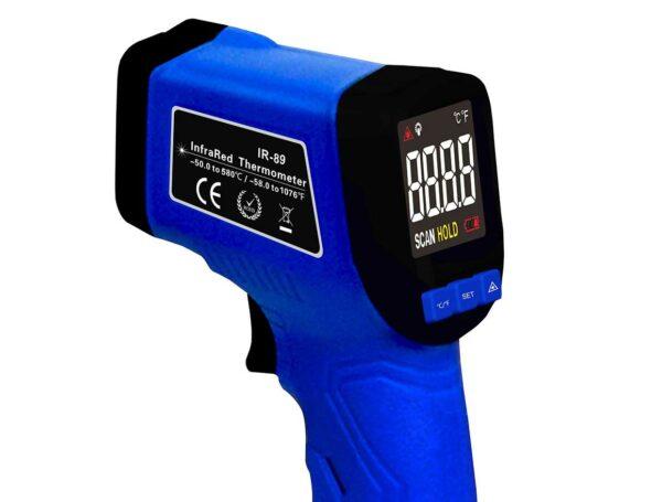 Bilde av Gruue IR termometer som er det beste termometer for pizzaovnner og vedfyrte bakerovner.